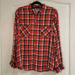 Authentic American Heritage Red Flannel Button Up